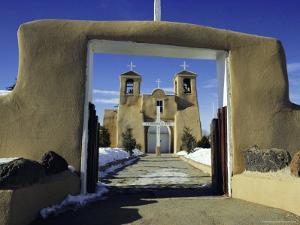 Mission San Francisco De Asis, Ranchos De Taos, New Mexico, USA by Walter Rawlings