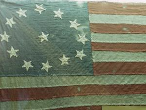 Oldest U.S. Flag, State House, Annapolis, Maryland, USA by Walter Rawlings