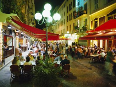 Open Air Cafes and Restaurants, Nice, Cote d'Azure, Provence, France, Europe