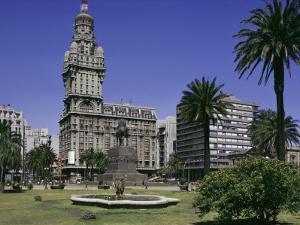 Palacio Salvo, Plaza Independenca, Montevideo, Uruguay, South America by Walter Rawlings