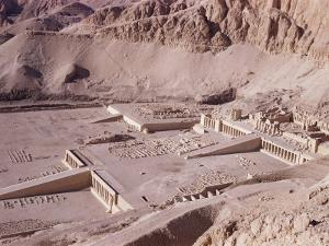 Ramps and Terraces of the Temple of Queen Hatshepsut, Deir El Bahri, Egypt by Walter Rawlings