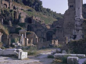 Ruins of Pompeii, Destroyed in Volcanic Eruption of Ad 79, Pompeii, Campania, Italy by Walter Rawlings