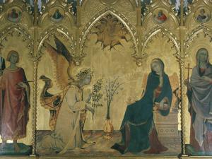 The Annunciation, Simone Martini, Uffizi, Florence, Tuscany, Italy by Walter Rawlings