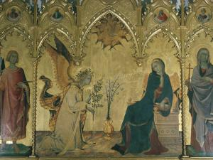 The Annunciation, Simone Martini, Uffizi, Florence, Tuscany, Italy by Walter Rawlings