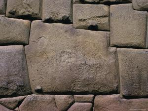 The Stone of Twelve Angles, the Inca Palace of Hatunrumiyoc, Cuzco, Peru by Walter Rawlings