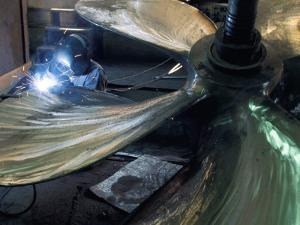 Welding Propeller, Marine Industry, Seattle, Washington, USA by Walter Rawlings