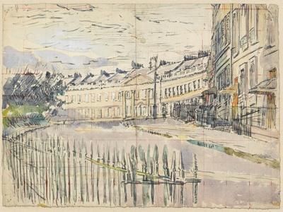 A View of Lansdown Crescent, Bath