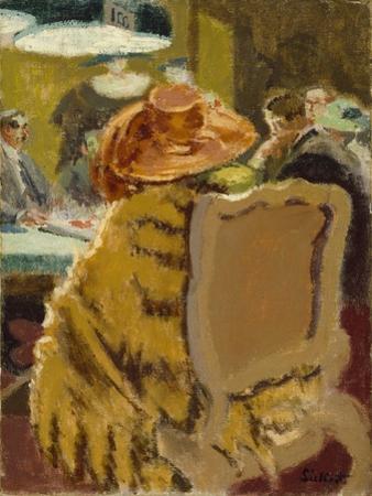 Baccarat - the Fur Cape by Walter Richard Sickert