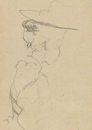 Head and Shoulders of a Woman in a Hat, in Lost Profile, to Right by Walter Richard Sickert