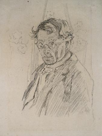 Self Portrait Wearing Glasses by Walter Richard Sickert
