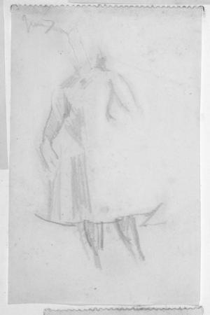 Sketch of a Female Figure, 1888 by Walter Richard Sickert