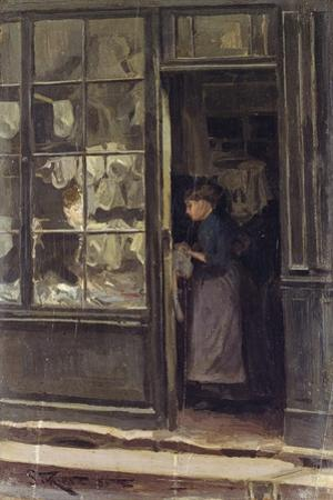 The Laundry Shop, 1885 by Walter Richard Sickert