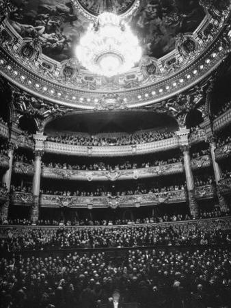 Auditorium of the Paris Opera House by Walter Sanders
