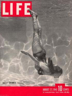 Ballet Swimmer Belita, August 27, 1945 by Walter Sanders