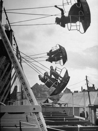 Carnival, Showing One of the Rides by Walter Sanders