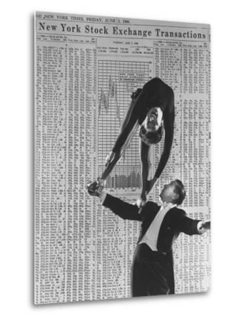 Nicholas Darvas Illustrating Successful Career on Stock Market in Dance with Half Sister Julia by Walter Sanders