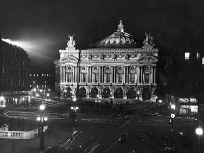 The Paris Opera House at Night by Walter Sanders