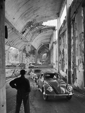 Volkswagons Rolling Off the Assembly Line by Walter Sanders