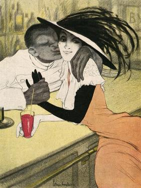 Mixed Race Couple, Cafe by Walter Schnackenberg