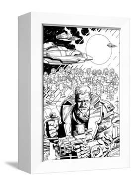 An Early Slammers Promotional Drawing for Malibu Comics - Inks by Walter Simonson
