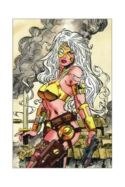 Phaedra Trading Card Art for Creator's Universe Set by Walter Simonson