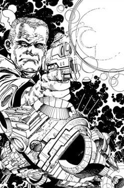 Promotional Drawing of Rojas for the Malibu Series by Walter Simonson