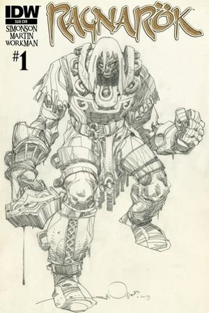 Ragnarok Issue No. 1 - Subscription Cover by Walter Simonson