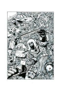 Ragnarok Issue No. 8 - Inks for the Standard Cover by Walter Simonson
