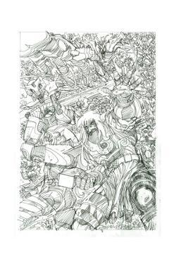 Ragnarok Issue No. 8 - Pencils for the Standard Cover by Walter Simonson