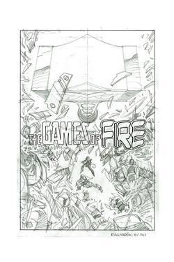 Ragnarok Issue No. 8: The Games of Fire - Pencils for Page 1 by Walter Simonson