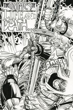 Ragnarok Issue No. 9: The Games of Life and Death - Inks for Page 1 by Walter Simonson