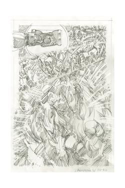 Ragnarok Issue No. 9: The Games of Life and Death - Pencils for Page 18 by Walter Simonson