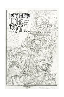 Ragnarok Issue No. 9: The Games of Life and Death - Pencils for Page 1 by Walter Simonson