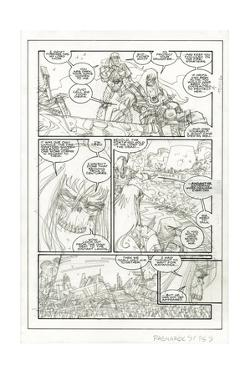 Ragnarok Issue No. 9: The Games of Life and Death - Pencils for Page 9 by Walter Simonson