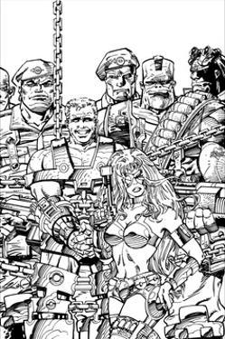 Slammers Cover for 'Cards Illustrated' No. 8 - Inks by Walter Simonson