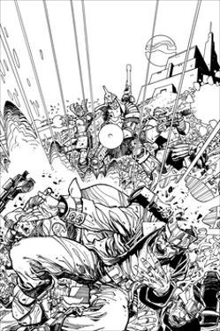Star Slammers No. 1 Cover - Inks by Walter Simonson