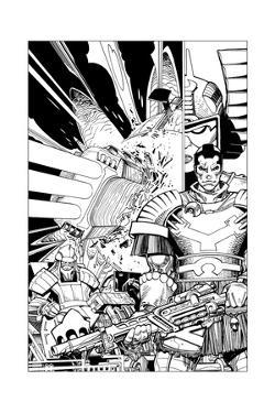 Star Slammers No. 2 Cover - Inks by Walter Simonson