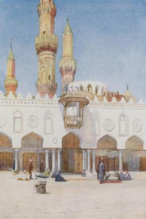 Courtyard of the Mosque of El Azhar, University of Cairo