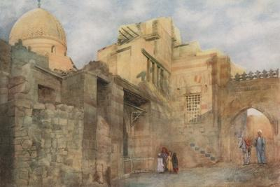 Old Gateway of a Ruined Mosque Near Bab-El-Wazir, Cairo