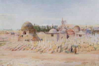 The Moslem Cemetery and View of Mount Hermon, Damascus