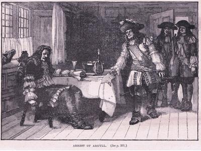 Arrest of Argyll Ad 1661