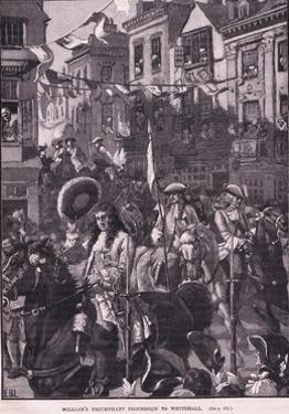Williams Triumphant Procession to Whitehall Ad 1697 by Walter Stanley Paget