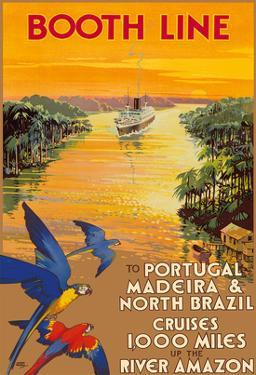 Portugal, Madeira, North Brazil, Amazon River - Booth Line Cruises by Walter Thomas