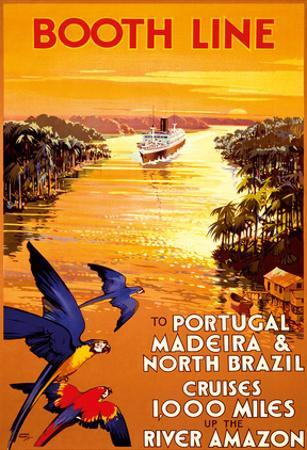 Portugal - Madeira - North Brazil - Booth Line - Cruises 1,000 Miles Up the River Amazon by Walter Thomas