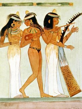 Ancient Egyptian Musicians and a Dancer, 1910 by Walter Tyndale