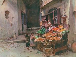 Fruit Stall at San Remo by Walter Tyndale
