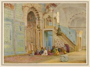 Moslems at Prayer in the Blue Mosque Cairo by Walter Tyndale