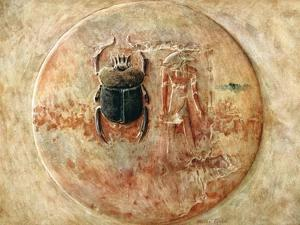 Scarab and Ra, Tomb of Seti, Egypt, 1910 by Walter Tyndale