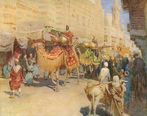 Wedding Procession, Cairo by Walter Tyndale