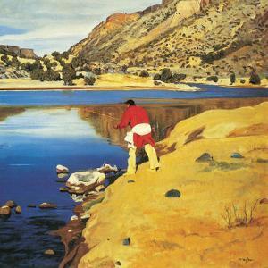 Along the Rio Grande by Walter Ufer